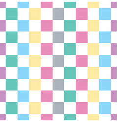 checkered square seamless background vector image vector image