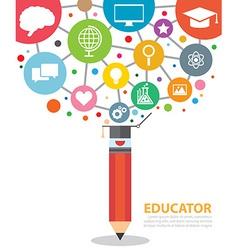 educator vector image vector image