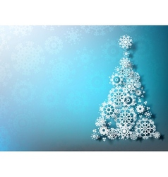 Paper christmass tree on blue background EPS 10 vector image