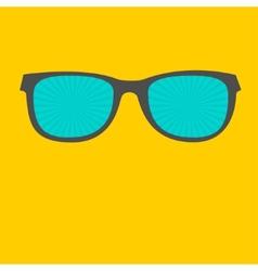 Sunglasses with sunburst glasses Flat design style vector image