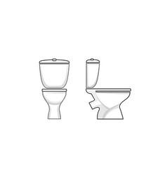 toilet sign toilet seat line art icon set vector image