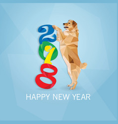 year of the dog new year card vector image