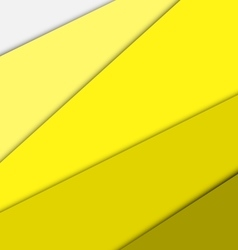 Yellow overlap layer paper material design vector image vector image
