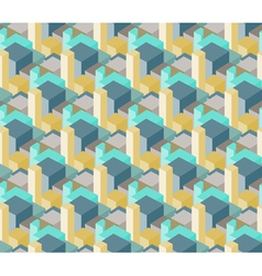 3d towers buildings city abstract seamless pattern vector