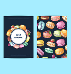 card flyer or brochure for sweet or pastry vector image vector image