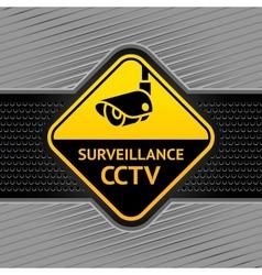 cctv surveillance symbol vector image