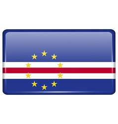 Flags Cape Verde in the form of a magnet on vector image vector image