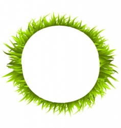 grass ring vector image vector image