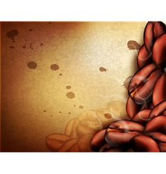 vintage background with coffee beans vector image vector image
