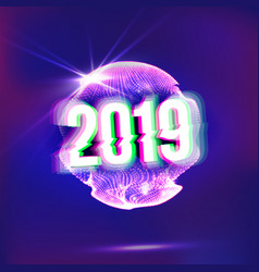 2019 happy new year background holiday of vector image