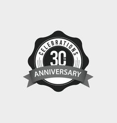 30 th anniversary celebrations template design vector