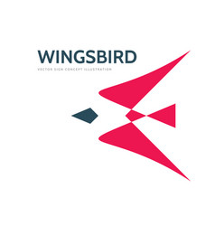 abstract bird - logo template concept vector image