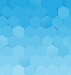 Abstract blue and white hexagon pattern background vector image
