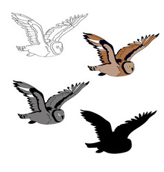 an image of a flying owl vector image vector image