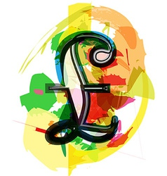 Artistic Pound sign vector