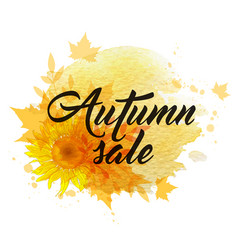 autumn sale banner vector image