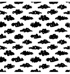 black clouds seamless pattern vector image