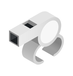 Blowing whistle isometric 3d icon vector