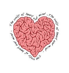 brain logo design template print concept vector image