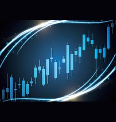 bulish stock market candle stick vector image