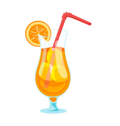cartoon style of fruit cocktail vector image