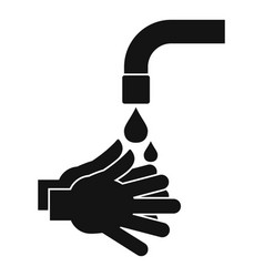 cleaning hands icon simple style vector image