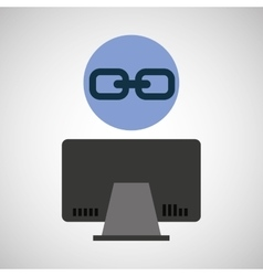 computer device link network icon vector image