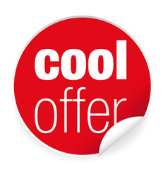 Cool offer label sticker vector