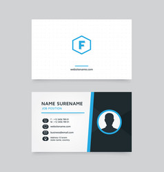 Creative business card design with profile icon vector