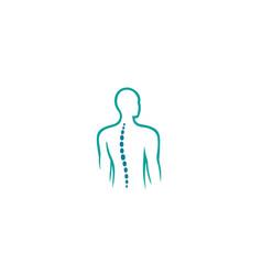 Creative chiropractic back spine logo design vector