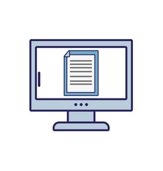 Electronic document information inside computer vector