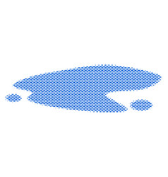 Fish puddle composition vector