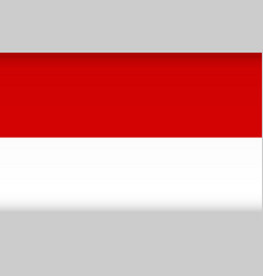 Flag indonesia color symbol isolated vector
