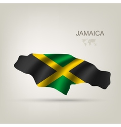 Flag of Jamaica as a country vector