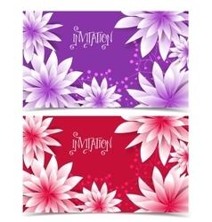 Floral color design vector image