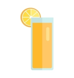 Glass with Lemon Beverage vector image