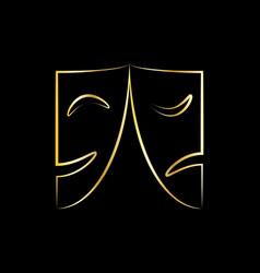 golden masks vector image