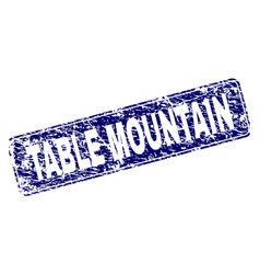 Grunge table mountain framed rounded rectangle vector