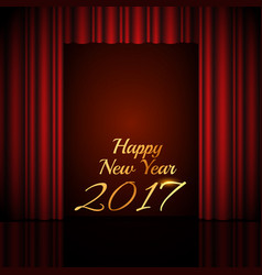 Happy new year 2017 background with open red vector