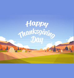happy thanksgiving greeting card text lettering vector image