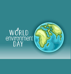 Happy world environment day card concept vector