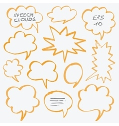 Highlighter Speech Clouds and Bubbles Design vector image