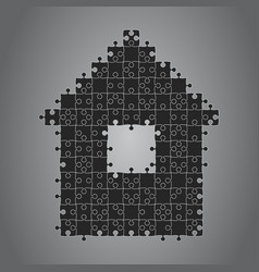 house puzzle four pieces banner renting leasing vector image