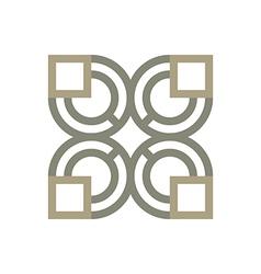 icon circle square design vector image