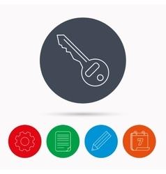 Key icon Door unlock tool sign vector image