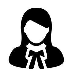 Lawyer icon female user person profile avatar vector
