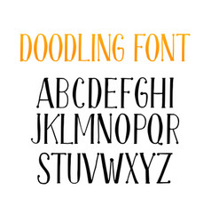 Letters of english alphabet for doodle font or vector