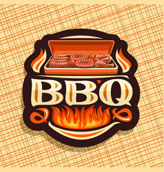 Logo for bbq vector