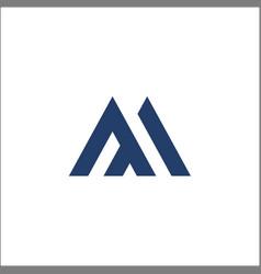 m letter logo template icon design vector image