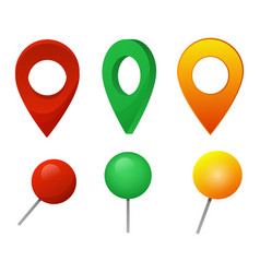 map pointer location pin marker sign vector image